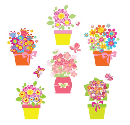 Funny greeting bouquets Vector