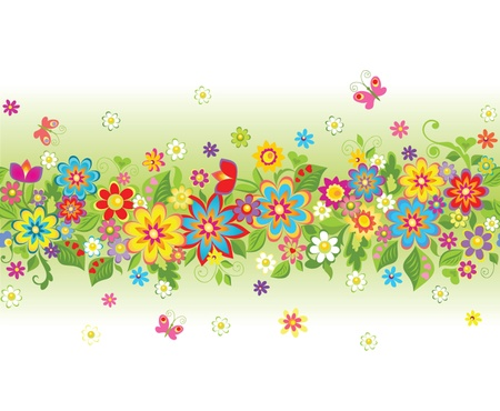 Seamless summery background Vector