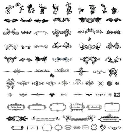 Elementos vintage para su diseño Ilustración de vector