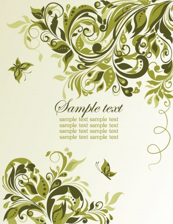 scroll border: Vintage spring floral banner Illustration
