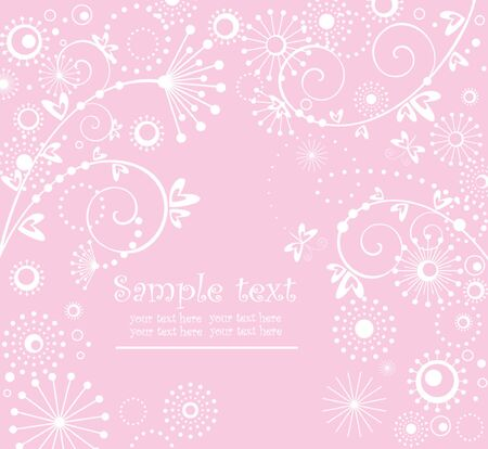 Girl arrival card Vector