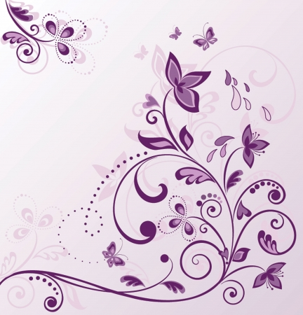 lilac flower: Greeting card