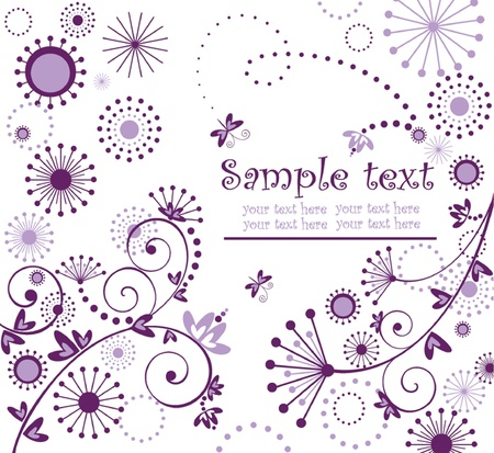Greeting violet card Vector