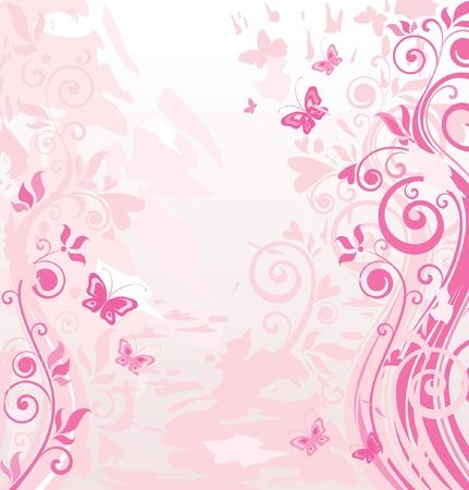 butterfly abstract: Frontera rosada