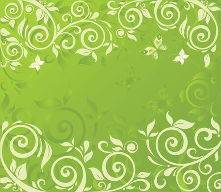 green swirl: Spring Illustration