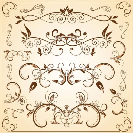 Vintage design elements Stock Vector - 18806790