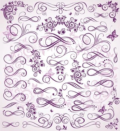 scroll design: Violet wedding stencil