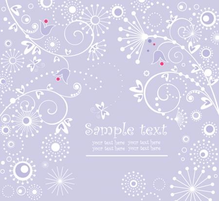 bells: Blue arrival card Illustration