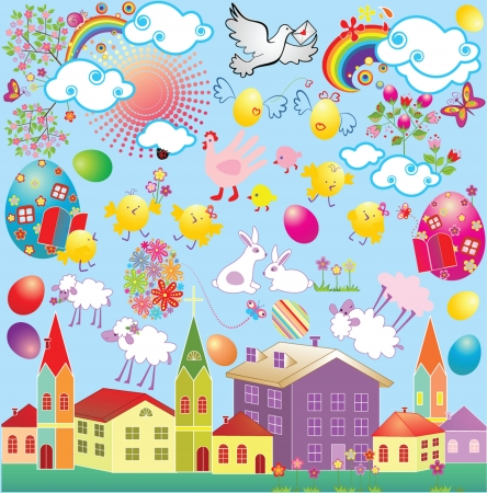 Easter set Stock Vector - 18838312