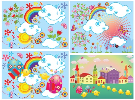 Funny easter cards Stock Vector - 18838331