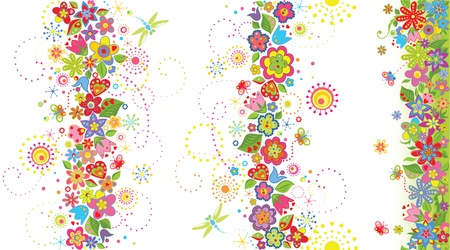 pasch: Seamless floral borders Illustration