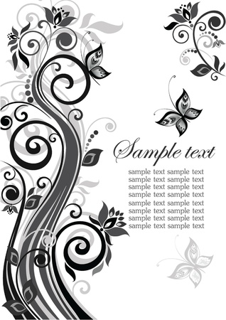 Vintage floral template Stock Vector - 18838268