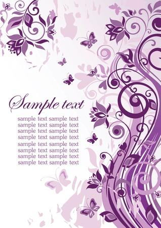 Vintage violet banner Stock Vector - 18838270