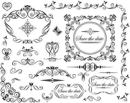 adornment: Wedding retro design