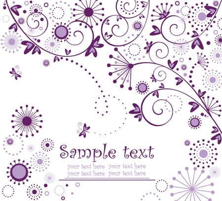 Greeting floral vintage card Vector