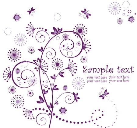 Valentine violet card Vector