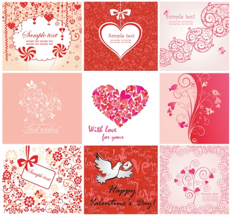 Valentine greeting cards Stock Vector - 18838351