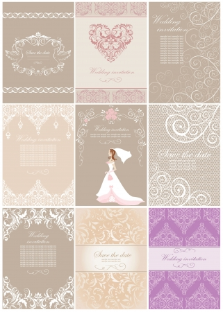 wedding invitation card: Wedding invitations Illustration