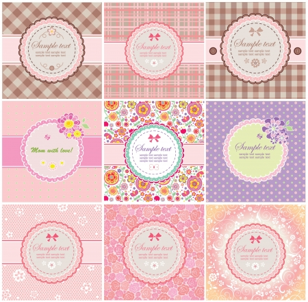 Beautiful greeting labels Vector