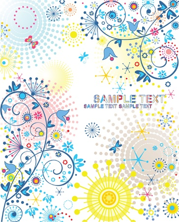 zomertuin: Abstracte zomerse banner