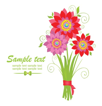 georgina: Greeting bouquet Illustration