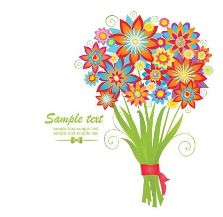 bunch flowers: Bouquet Illustration