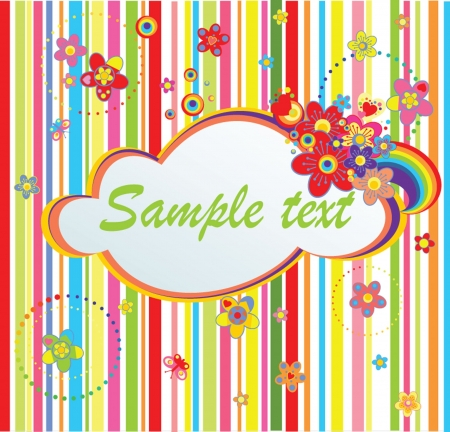 greeting card background: Colorful stripped label