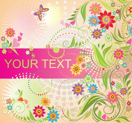 mothers day background: Colorful summer background