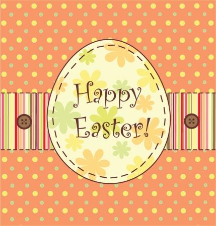 Easter label Vector