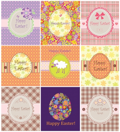 Funny easter cards Vector