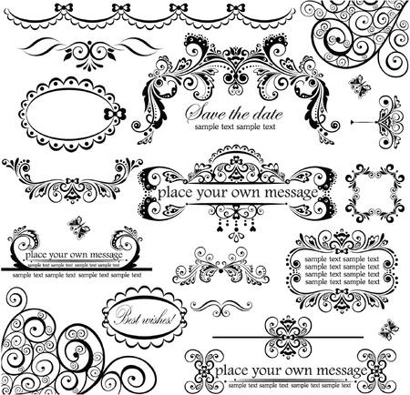 lace frame: Wedding design. Set.