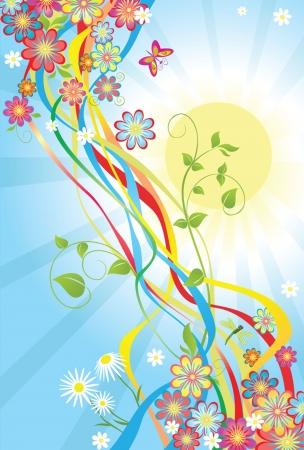 Summery banner Vector