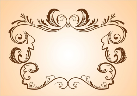 Vintage brown frame Stock Vector - 18838372