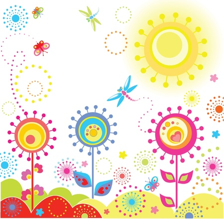 Funny summer card Vector