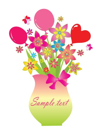 Greeting bouquet Stock Vector - 18858559
