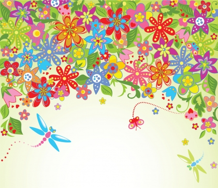 Summer blossom Vector