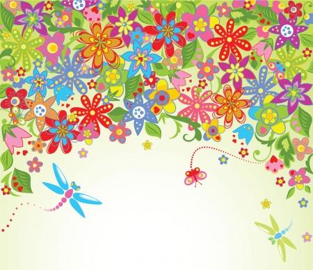 happy birthday heart shapes: Summer blossom