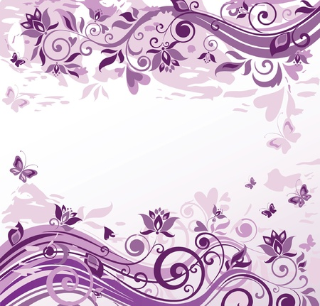 purple butterfly: Vintage violet background