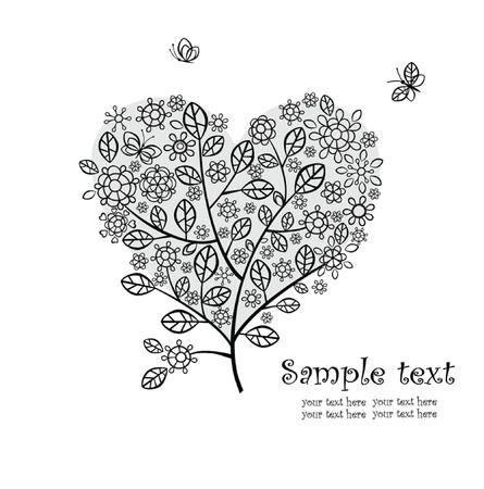 Beautiful floral heart Stock Vector - 18858579