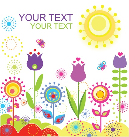 Colorful abstract summer card Vector
