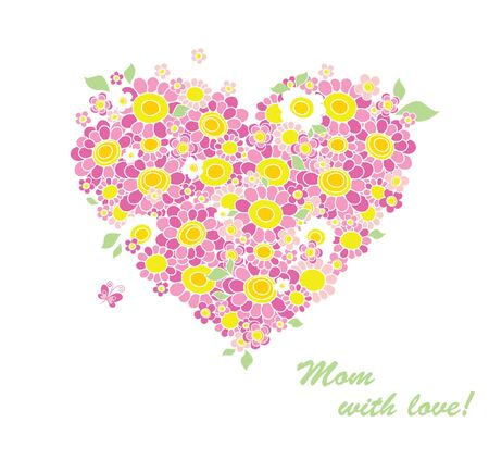 Greeting card for Mother Vector