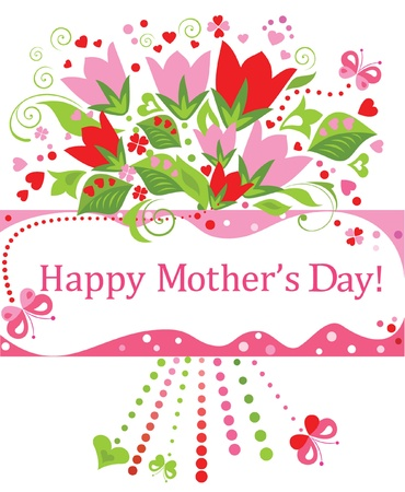 Greeting for Mothers Day Vector