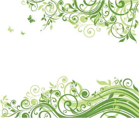 herbal background: Floral background