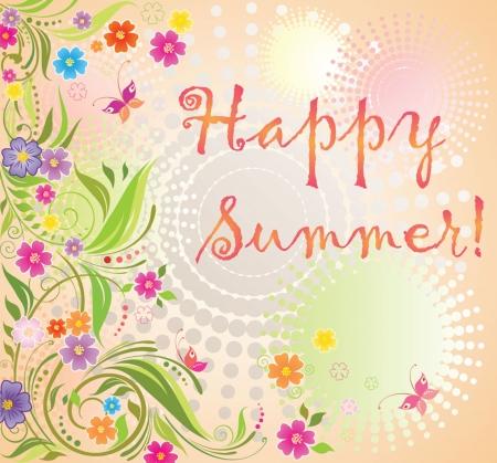 Summer card Stock Vector - 18858706