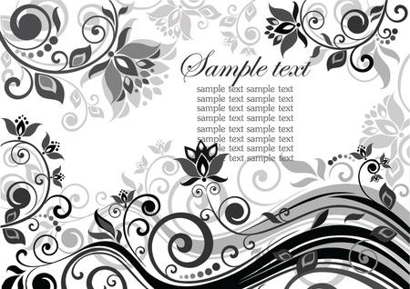 Vintage floral banner Stock Vector - 18858677