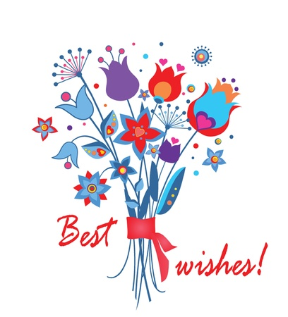 Abstract greeting bouquet Stock Vector - 18858499