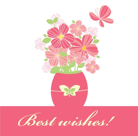 Best wishes! Stock Vector - 18858448