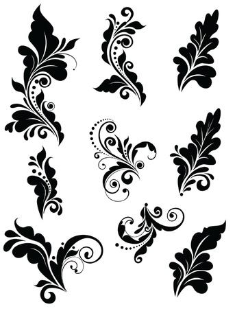 Floral adornment Vector