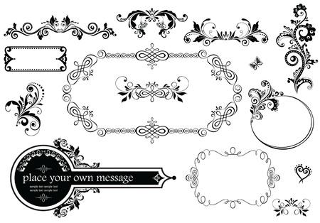 adornment: Vintage wedding decoration Illustration