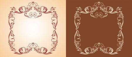 Decorative gold frame Stock Vector - 18858667